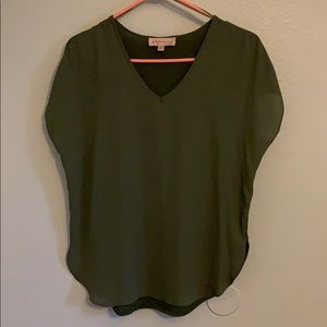 philosophy • XS V-Neck Blouse Shirt NWOT